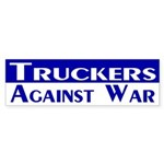 Truckers Against War bumper sticker