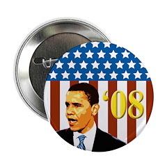 Patriotic Activist Obama '08 Buttons (100 pack)