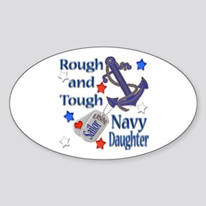 Anchor Sailor Daughter Oval Sticker