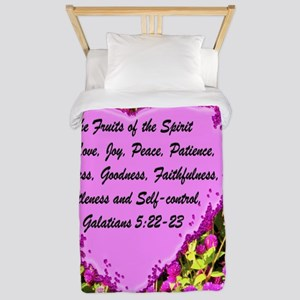 FRUITS OF THE SPIRIT Twin Duvet Cover