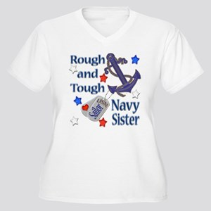 Anchor Sailor Sister Women's Plus Size V-Neck T-Sh