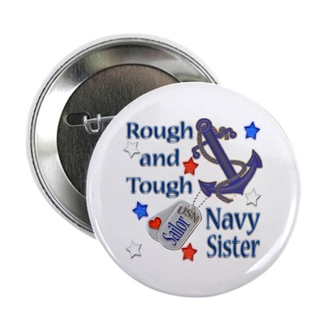 "Anchor Sailor Sister 2.25"" Button (100 pack)"