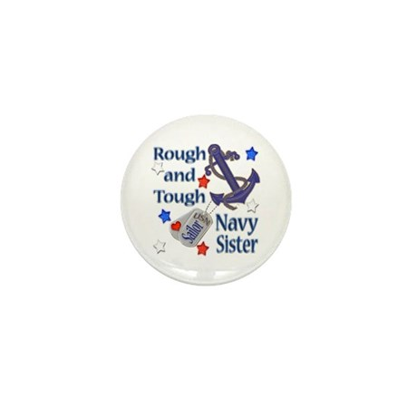 Anchor Sailor Sister Mini Button (10 pack)