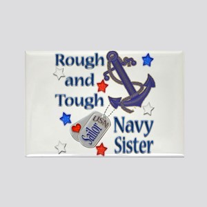 Anchor Sailor Sister Rectangle Magnet