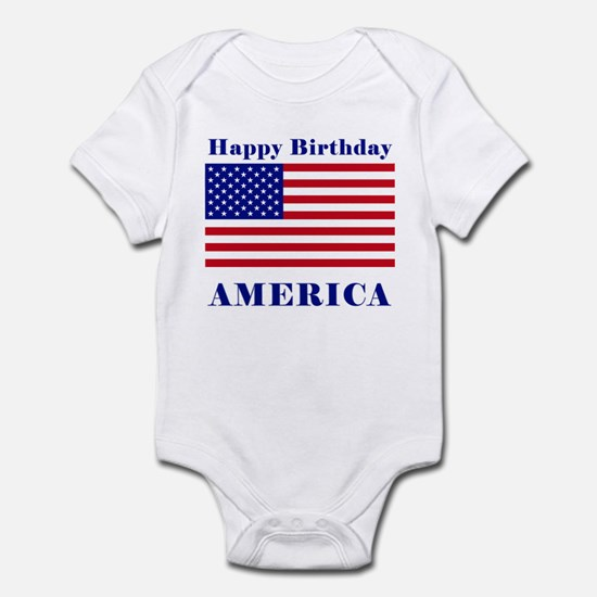 Happy Birthday America Infant Bodysuit