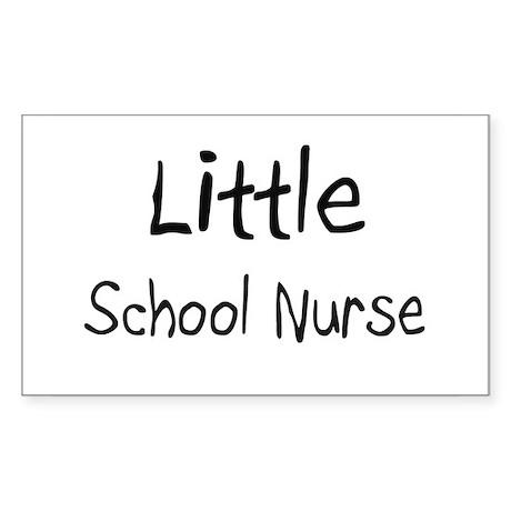 Little School Nurse Rectangle Sticker