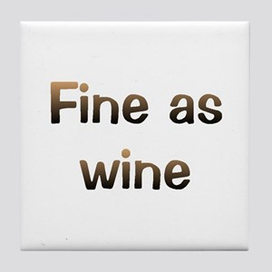 CW Fine Wine Tile Coaster