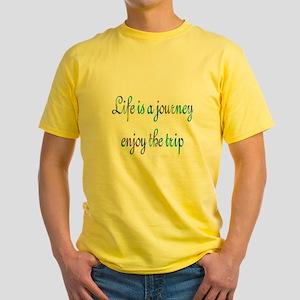 Life Journey Yellow T-Shirt