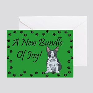 New Boston Terrier Greeting Card