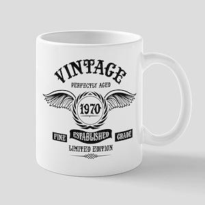 Vintage Perfectly Aged 1970 Mugs