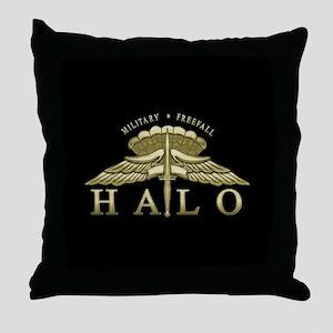 Halo Badge Throw Pillow