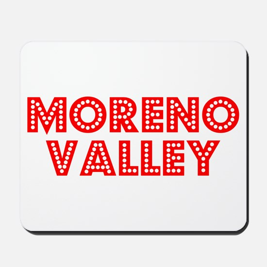 Retro Moreno Valley (Red) Mousepad