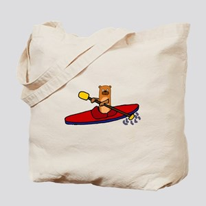 Fun Sea Otter Kayaking Tote Bag