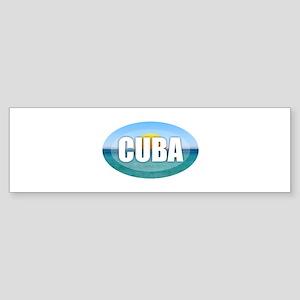 Cuba Sunset Bumper Sticker