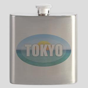 Tokyo Rising Sun Flask