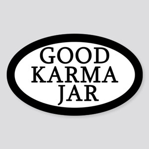 Good Karma Jar Tip Jar Sticker