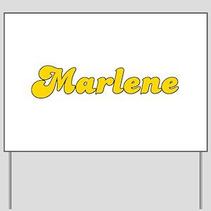 Retro Marlene (Gold) Yard Sign
