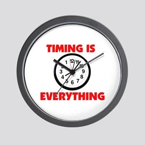 BACK IN TIME Wall Clock
