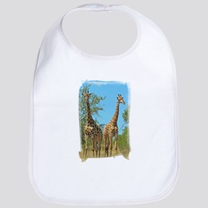 Pair of Giraffes Bib