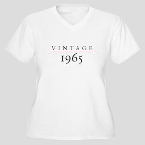 Vintage 1965 Women's Plus Size V-Neck T-Shirt