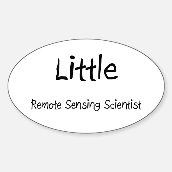 Little Remote Sensing Scientist Oval Decal