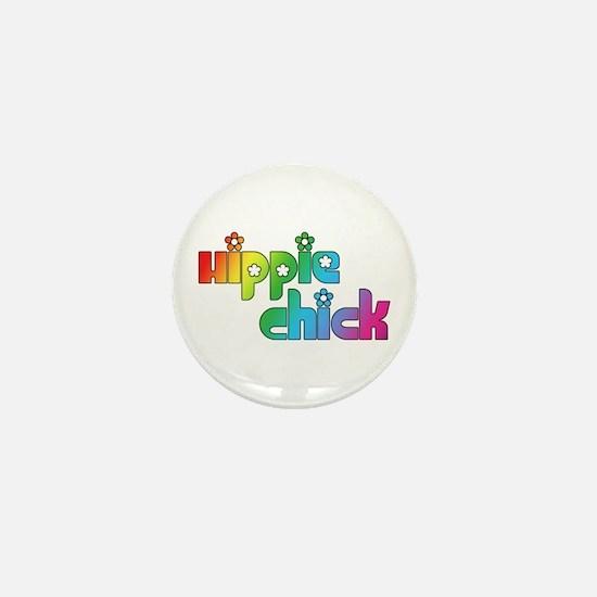 Hippie Chick Mini Button