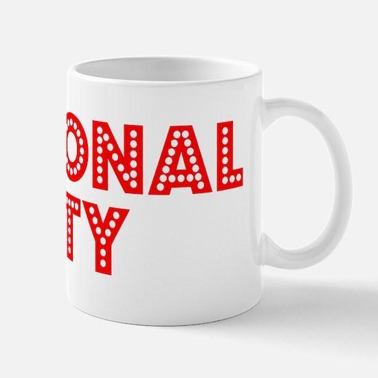 Retro National City (Red) Mug