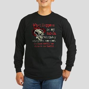 Drinking 50th Long Sleeve Dark T-Shirt