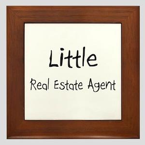 Little Real Estate Agent Framed Tile