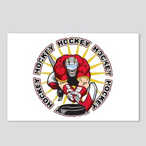 Insane Hockey Player Postcards (Package of 8)