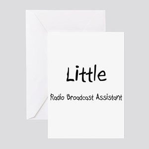 Little Radio Broadcast Assistant Greeting Cards (P