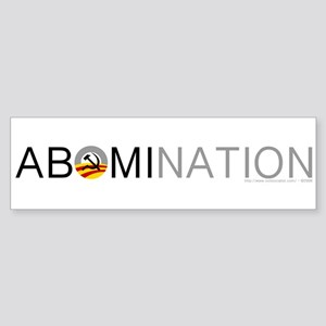 Anti-Obama ABOMINATION Sticker