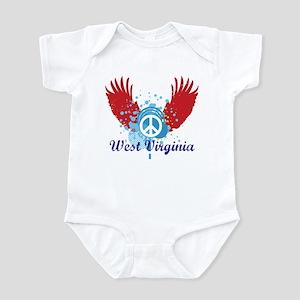 West Virginia Peace Infant Bodysuit