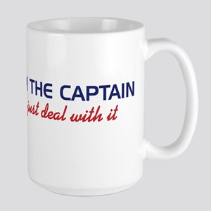 I'm The Captain, Just Deal Wi Large Mug