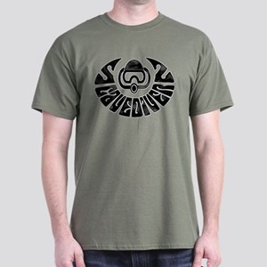 Cave Diver Line Arrow Black Dark T-Shirt
