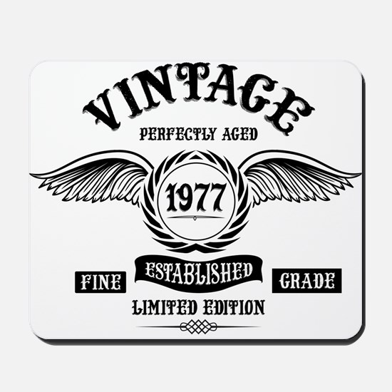 Vintage Perfectly Aged 1977 Mousepad
