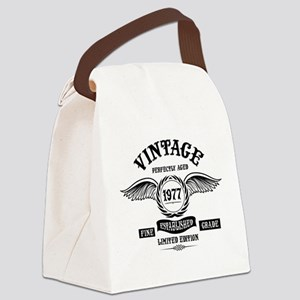 Vintage Perfectly Aged 1977 Canvas Lunch Bag