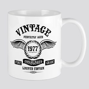 Vintage Perfectly Aged 1977 Mugs