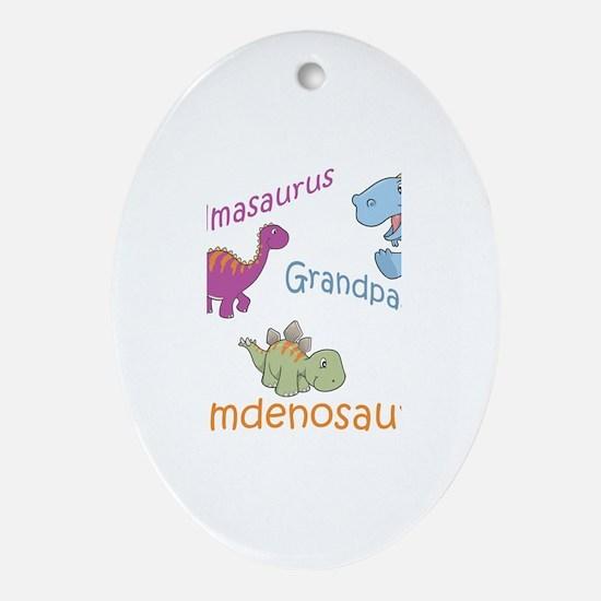 Grandma, Grandpa, & Camdenosa Oval Ornament