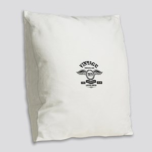 Vintage Perfectly Aged 1978 Burlap Throw Pillow
