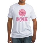 Go Pink Breast Cancer Fitted T-Shirt