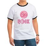 Go Pink Breast Cancer Ringer T