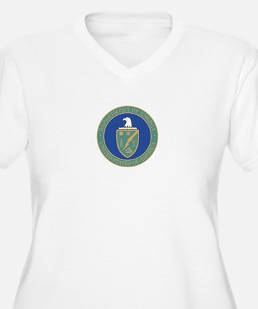 ENERGY-DEPARTMENT-SEAL Womes Plus-Size V-Neck T-Sh