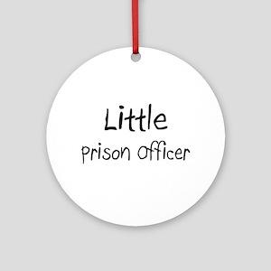 Little Prison Officer Ornament (Round)
