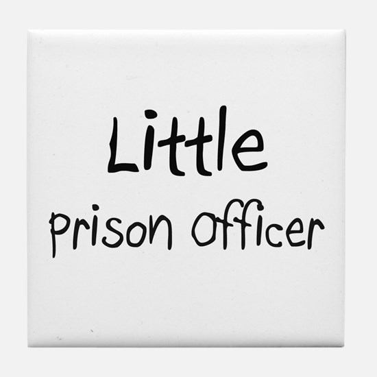 Little Prison Officer Tile Coaster