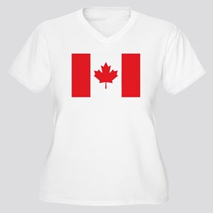 CANADA Womes Plus-Size V-Neck T-Shirt