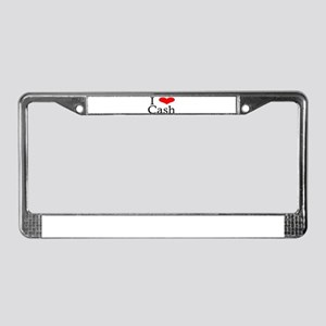 I Heart Cash License Plate Frame