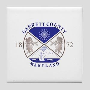 GARRETT-COUNTY-SEAL Tile Coaster