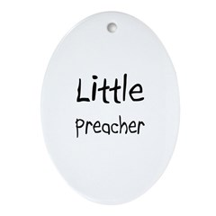 Little Preacher Oval Ornament