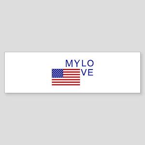 MY LOVE AMERICA Bumper Sticker